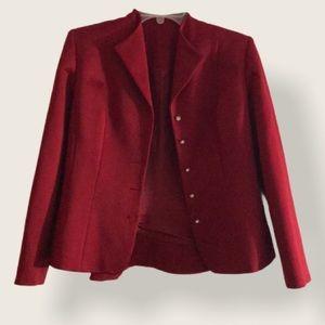 Shani red blazer